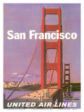 San Francisco - Golden Gate Bridge - United Air Lines
