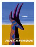 Air Afrique - Gazelle Giclée par Bernard Villemot