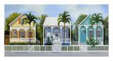 Key West Cottages Reproduction d'art par John Ketley