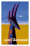 Air Afrique - Gazelle Reproduction d'art par Bernard Villemot