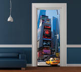 New York Bright Lights Door Wallpaper Mural