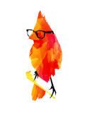 Punk Bird Reproduction d'art par Robert Farkas