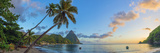 Caribbean  St Lucia  Soufriere  Soufriere Bay  Soufriere Beach and Petit Piton