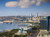 Azerbaijan  Baku  View of City Looking Towards Hilton Hotel