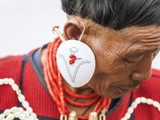 Yimchunger Tribesman With Earring  Nagaland  NE India