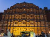 Palace of the Winds (Hawa Mahal) at Dusk  Jaipur  Rajasthan  India