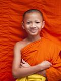 Laos  Luang Prabang  Wat Sensoukarahm  Portrait of Monk
