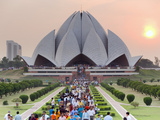 India  Delhi  Lotus Temple  the Baha'i House of Worship  Popularly Known As the Lotus Temple