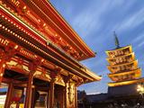 Japan  Tokyo  Asakusa  Asakusa Kannon Temple  Hozomon Gate and Temple Pagoda