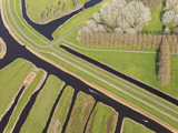Polder or Re-Claimed Lands  North Holland  Netherlands