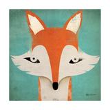 Fox Reproduction d'art par Ryan Fowler