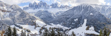 Winter Snow  St Magdalena Village  Val Di Funes  Dolomites Mountains  Italy