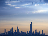 Kuwait  Kuwait City  Salmiya  Arabian Gulf and City Skyline Looking Towards Al Hamra Tower