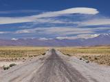 Chile  Atacama Desert  Laguna Miscanti  Desert Road