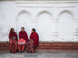 Women Sitting in Durbar Square (UNESCO World Heritage Site)  Kathmandu  Nepal