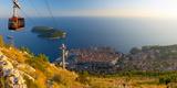 Croatia  Dalmatia  Dubrovnik  Old Town (Stari Grad) from Mount Srd  Cable Car