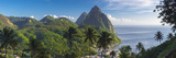 Caribbean  St Lucia  Petit and Gros Piton Mountains