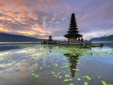 Indonesia  Bali  Bedugul  Pura Ulun Danau Bratan Temple on Lake Bratan