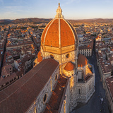 Duomo Santa Maria Del Fiore and Skyline Over Florence  Italy