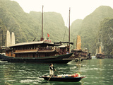 Vietnam  Halong Bay and Tourist Junk Boat
