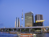 Japan  Honshu  Kanto  Tokyo  Asakusa  Office Buildings and Skytree Tower and Sumidagawa River