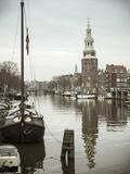 Montelbaanstoren Tower  Oudeschans Canal  Amsterdam  Holland