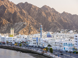 Middle East  Oman  Muscat  Mutrah  Elevated View Along Corniche  Latticed Houses and Mutrah Mosque