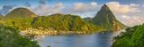 Caribbean  St Lucia  Soufriere  Soufriere Bay  Petit Piton (UNESCO World Heritage Site)