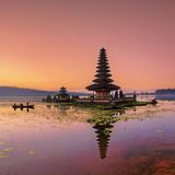 Indonesia  Bali  Bedugul  Pura Ulun Danau Bratan Temple on Lake Bratan