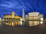 Opera House  Augustus Square  Leipzig  Saxony  Germany