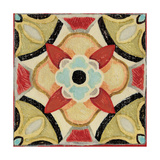 Bohemian Rooster Tile Square IV