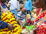 Flower Market  Kolkata (Calcutta)  India