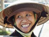 Vietnam  Hoi An  Portrait of Lady Wearing Conical Hat