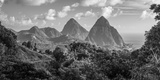 Caribbean  St Lucia  Petit and Gros Piton Mountains (UNESCO World Heritage Site)
