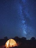 USA  Arizona  Campground on Hunts Mesa and Milky Way