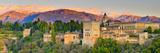 Spain  Andalucia  Granada Province  Granada  Alhambra Palace and Sierra Nevada Mountains