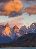 Chile  Magallanes Region  Torres Del Paine National Park  Lago Pehoe  Dawn Landscape