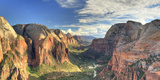USA  Utah  Zion National Park  Zion Canyon from Angel's Landing