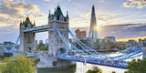 UK  England  London  River Thames  Tower Bridge and the Shard  by Architect Renzo Piano