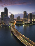 USA  Florida  Miami  Elevated City Skyline from Brickell Key