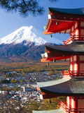 Japan  Central Honshu (Chubu)  Fuji-Hakone-Izu National Park  Mount Fuji Capped in Snow