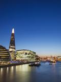 England  London  Southwark  River Thames and London Skyline at Sunset