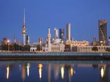 Kuwait  Kuwait City  City Skyline Reflecting in  Harbour