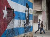 Cuban Flag Mural  Havana  Cuba