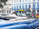 Classic American Car in Front of the Telegrafo Hotel  Parque Central  Havana  Cuba
