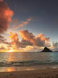 USA  Hawaii  Oahu  Kualoa Beach Park  Mokolii Island (Chinaman's Hat)