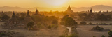Ancient Temple City of Bagan (Also Pagan) and Ox Cart  Myanmar (Burma)