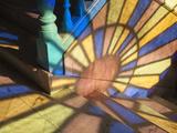 Light Falling Through Stained Glass Window  in a Casa in Habana Vieja  Havana  Cuba