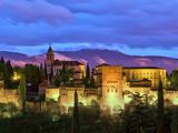 Spain  Andalucia  Granada Province  Granada  Alhambra from Sacromonte Hill