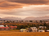 Chile  Magallanes Region  Puerto Natales  Elevated Town View